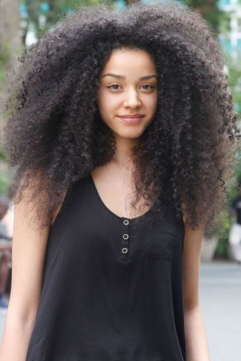 Curly Hair Styles for Black Women images