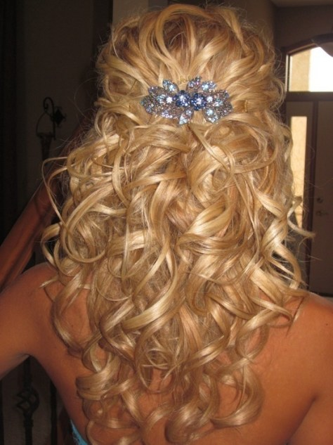 Curly Half Updos For Weddings