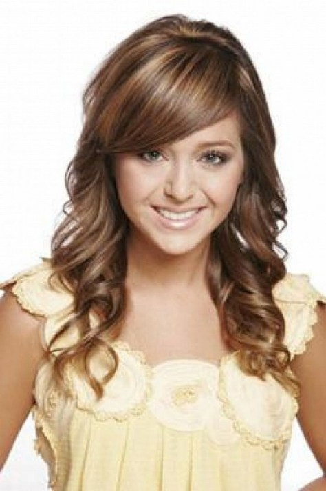 Cute Curly Hairstyles for Small Face
