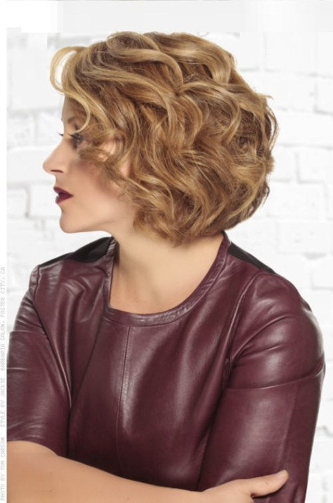 Easy Curly Bob Professional Hairstyles