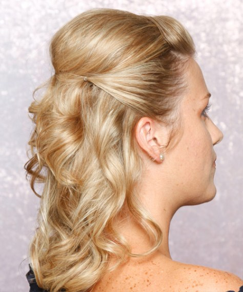 Half Up Curly Formal Hairstyle ..