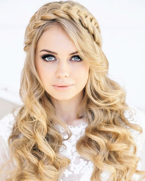Long Hairstyles With Braids And Curls Wallpaper