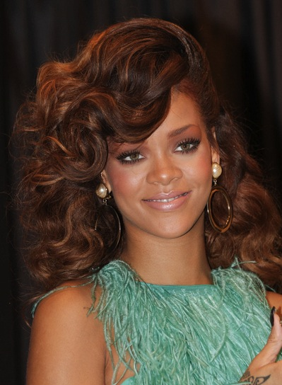 "08/19/2011 - Rihanna - Rihanna Launches Her ""Reb'l Fleur"" Fragrance at House of Fraser in London on August 19, 2011 - House of Fraser Store, Oxford Street - London, UK - Keywords: headshot, hanging earrings, jewelry, shoulder length wavy red hair, frills pastel green top, light green trousers, pastel, pastels, short trousers, LMK375-30595-190811 Orientation: Portrait Face Count: 1 - False - Photo Credit: Landmark / PR Photos - Contact (1-866-551-7827) - Portrait Face Count: 1"