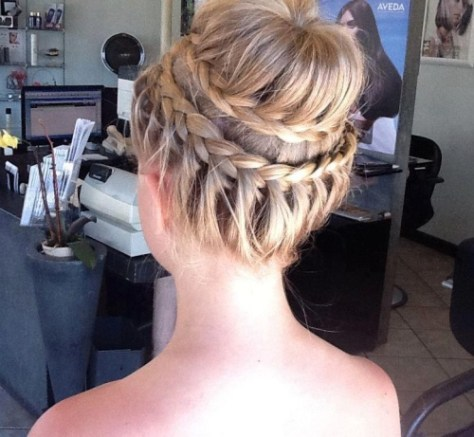Prom Hairstyles Updos with Braids and Curls