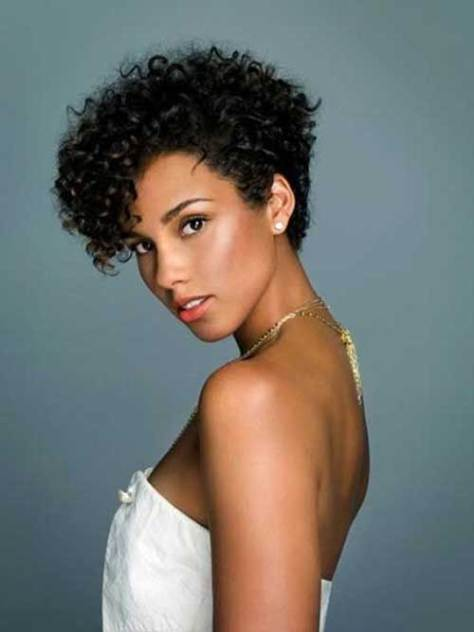 Short Curly Pixie Hairstyle