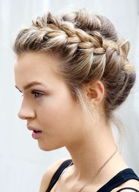 Short Curly Prom Hairstyles Updo