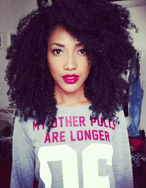 Short to Medium Hair for Curly Afro Hairstyles
