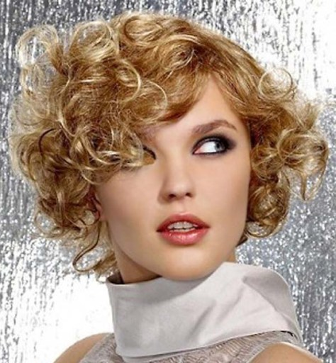 Very Short Curly Hairstyles For Beautiful Women