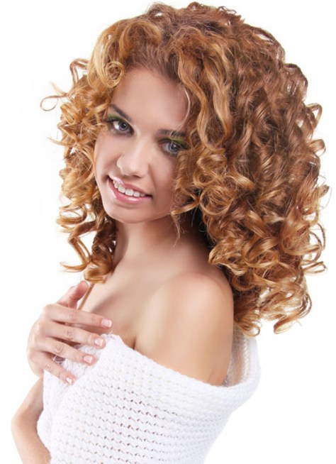 beauty long curly layered natural hairstyle