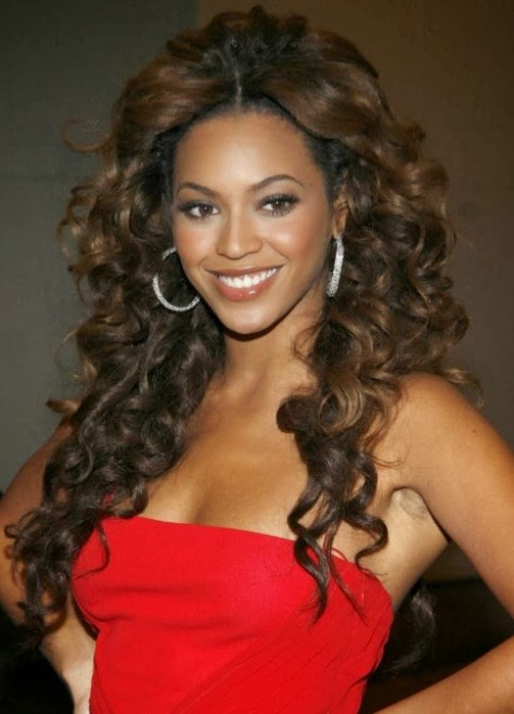 cute curly hair styles images
