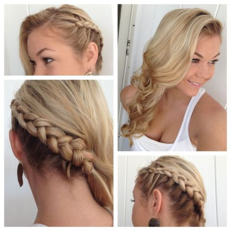 Side braid with Classic Curls