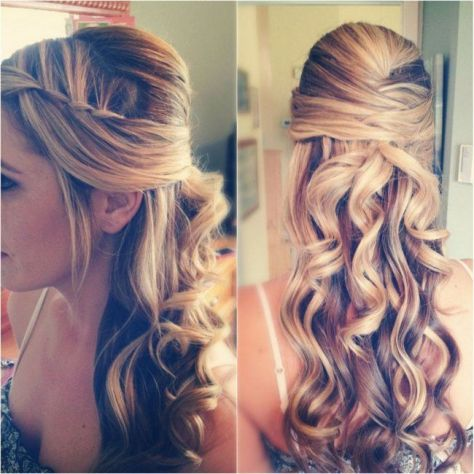 -curly hairstyles with braids on the side