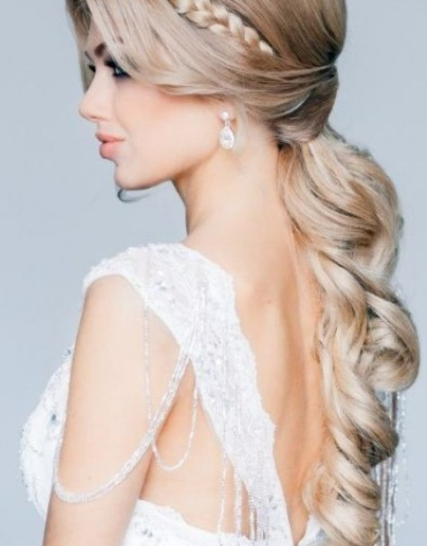wedding hairstyles curly and down ...