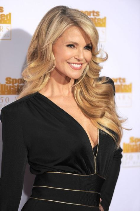 Christie Brinkley long curly hairstyle for women over 50