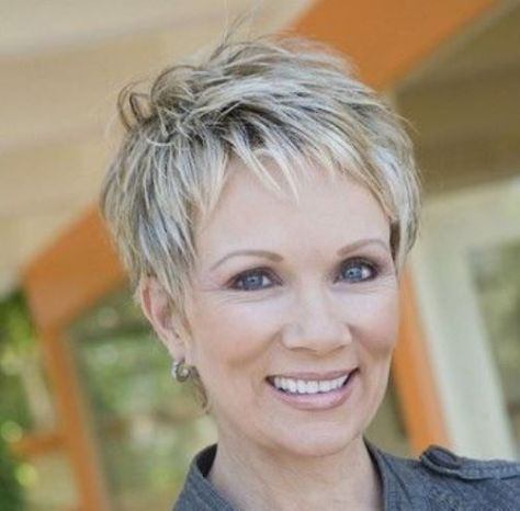 Great pixie haircut for women over 50 with short thick hair