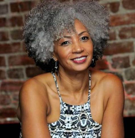 Natural Short Afro Haircut for Black Women Over 50