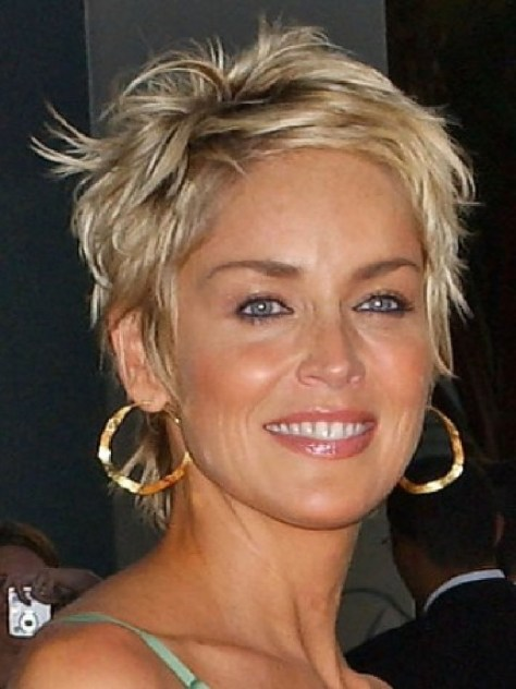 Sharon Stone Hairstyles Short Hair