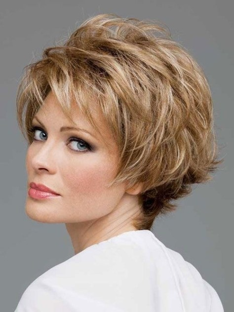 Short Layered Hairstyle for Women Over 50