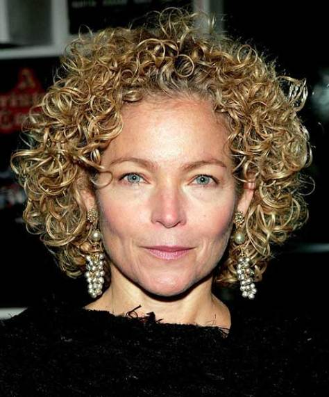 Short Thick Curly Hair Style Women Over 50