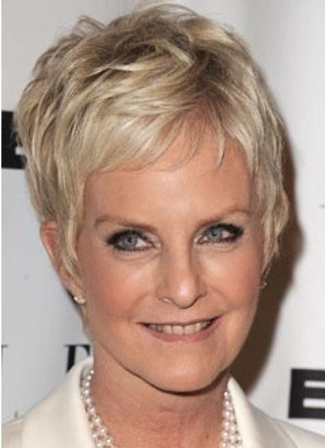 Very Short Hairstyles for Women Over 50 with Wavy Hair