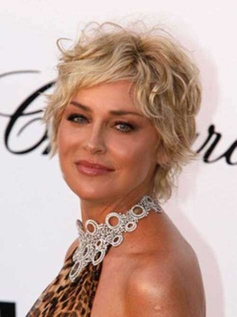 Wavy Short Blonde Hairstyle for Women Over 50
