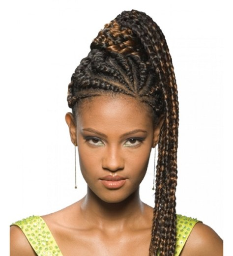 African Braids In A Ponytail