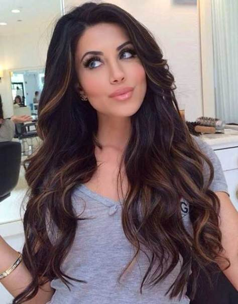 Color and Highlights Styles Long Hair