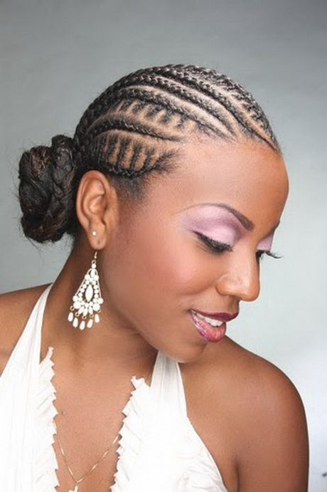 Cornrow braided hairstyles..