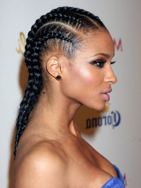 Cornrow braids for black hair