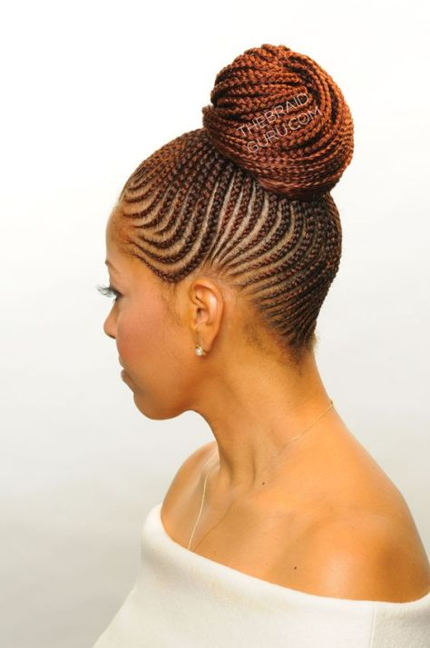 Cornrows Updo Hairstyles