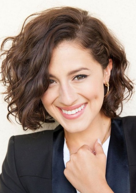 Cute Messy Short Wavy Curly Hairstyle for 2016