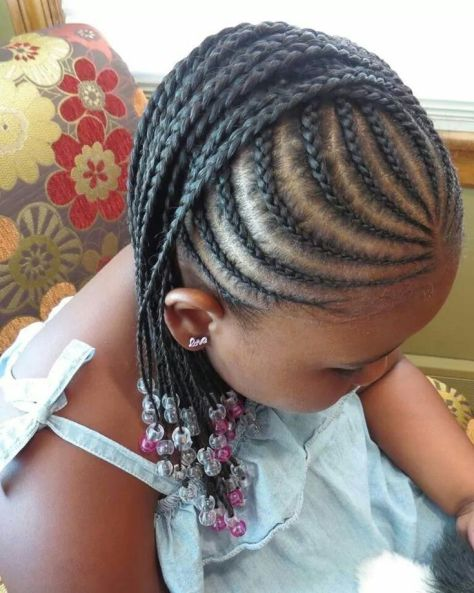 Kids Braids with Natural Hair