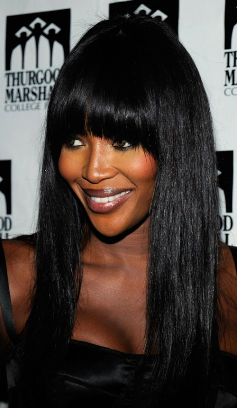 NEW YORK - OCTOBER 24: Model Naomi Campbell attends the 4th Annual Thurgood Marshall College Fund Front Row Fashion Show at Roseland Ballroom on October 24, 2009 in New York City. (Photo by Fernando Leon/Getty Images)