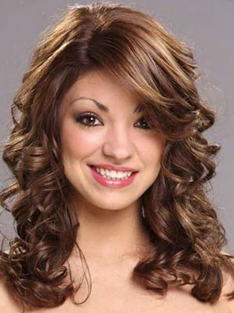 Medium Length Layered Hairstyles Curly