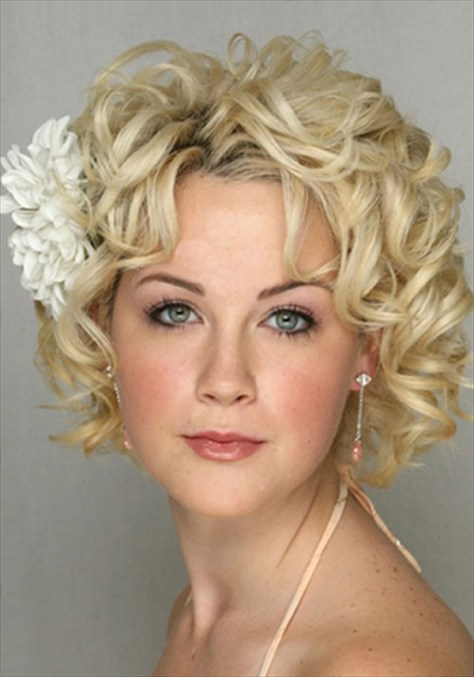 Short Curly Hair Wedding Hairstyles