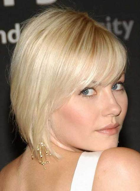 Short Side Swept Haircuts with Bangs for Fine Hair