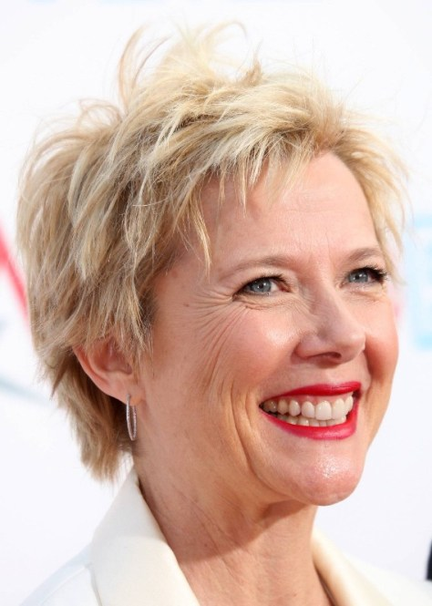 Short hairstyles for older women.....