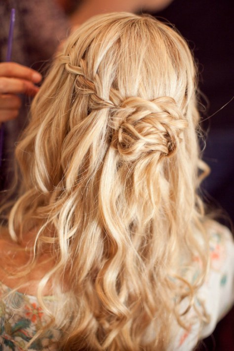 Waterfall Braid Wedding Hair