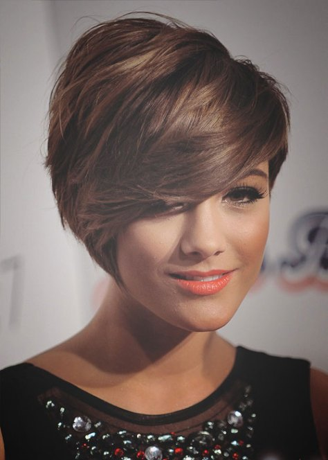 Cute short haircuts with bangs 2016