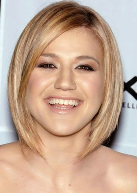 Kelly Clarkson Long Bob Hairstyles