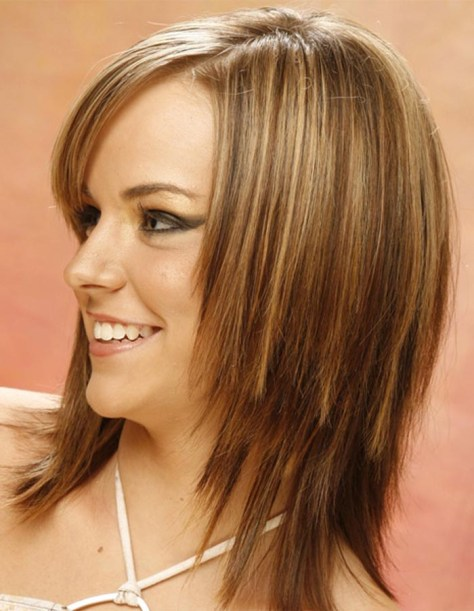 Party Layered Straight Hairstyles for Women