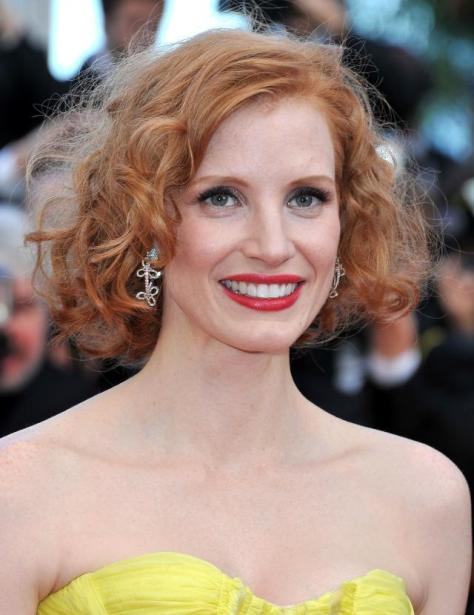 "CANNES, FRANCE - MAY 16: Actress Jessica Chastain attend ""The Tree Of Life"" premiere during the 64th Annual Cannes Film Festival at Palais des Festivals on May 16, 2011 in Cannes, France. (Photo by Pascal Le Segretain/Getty Images)"