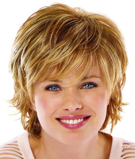 Short Hairstyles For Round Faces pictures