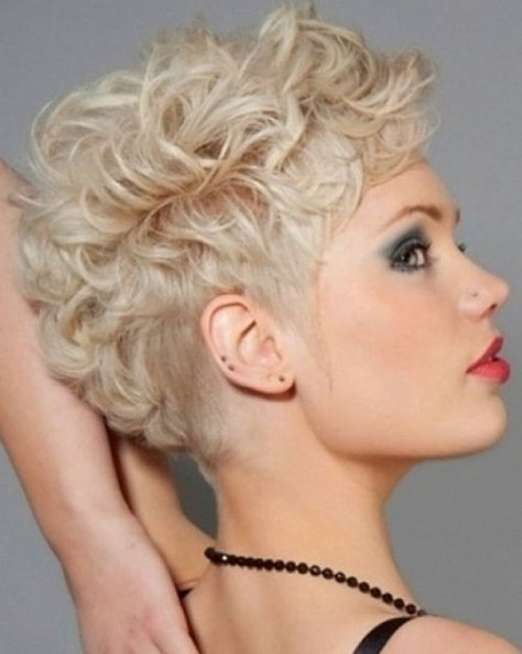Short Hairstyles Women Curly Hair...