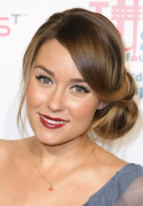 Sleek Low Side Bun Updo Hairstyles
