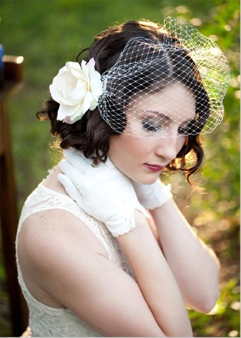Vintage Wedding Hairstyles for Short Hairs