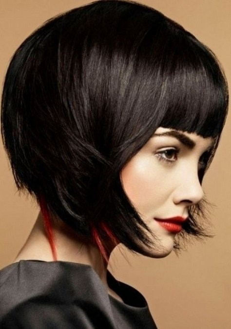 2015 Short Trendy Hairstyles with Bangs