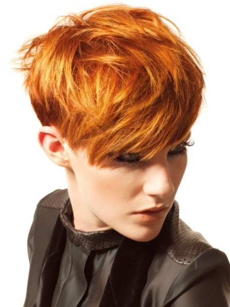 Short Hairstyles Women Red Hair