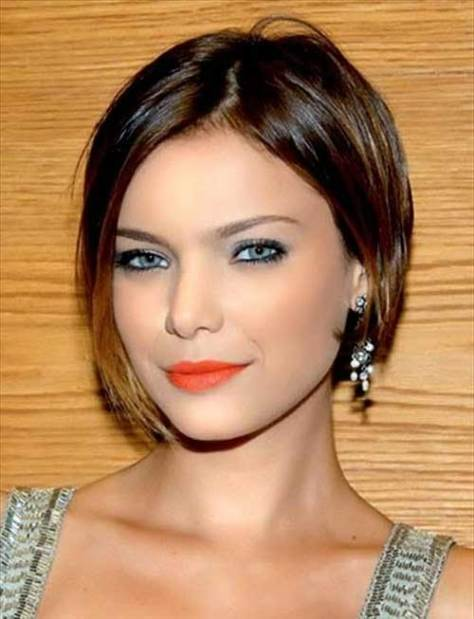 Short Modern Bob Haircut with Highlights