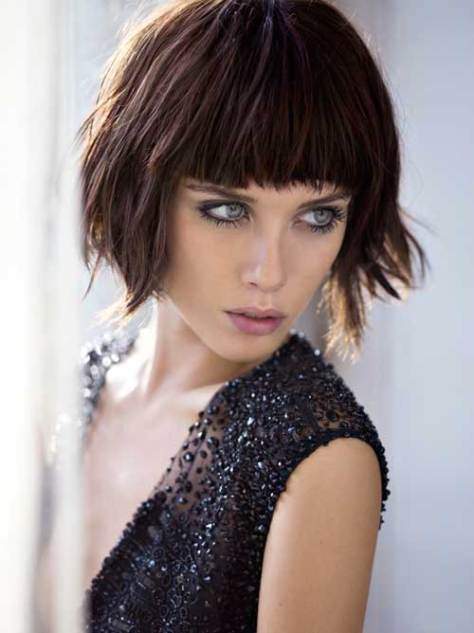 short hairstyles brown